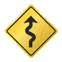Winding road sign vector image 1572268 stockunlimited winding road sign publicscrutiny Images