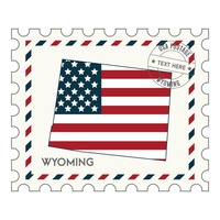 Wyoming postage stamp