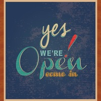 Yes we re open come in wallpaper