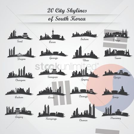 Towers : 20 city skylines of south korea