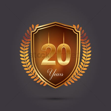 20 years : 20 years emblem