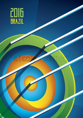 Archeries : 2016 brazil sports competition poster