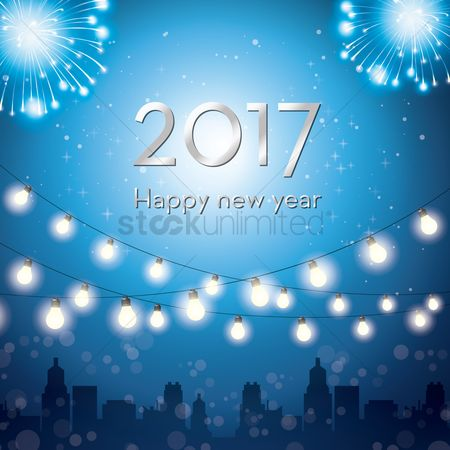 Fonts : 2017 happy new year greeting