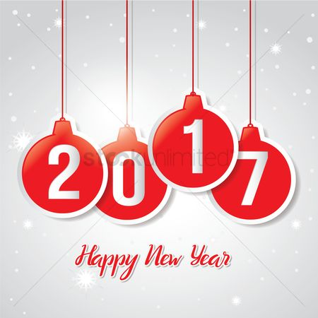 Bauble : 2017 happy new year greeting