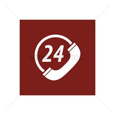 free 24 hours customer service stock vectors stockunlimited. Black Bedroom Furniture Sets. Home Design Ideas