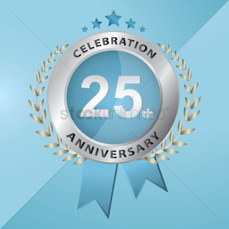 Silver : 25th anniversary celebration emblem