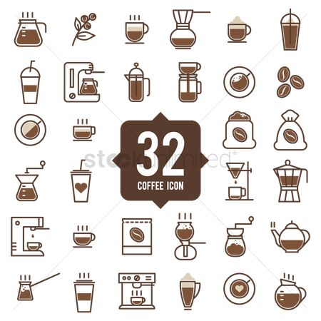 Appliance : 32 coffee icons