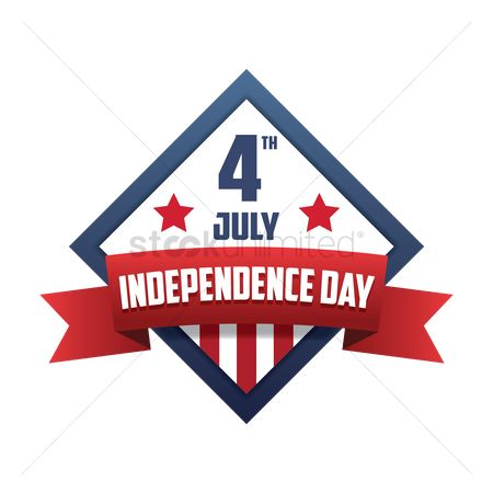 Insignias : 4th of july independence day label