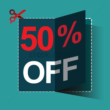 Poster : 50 percent off sale