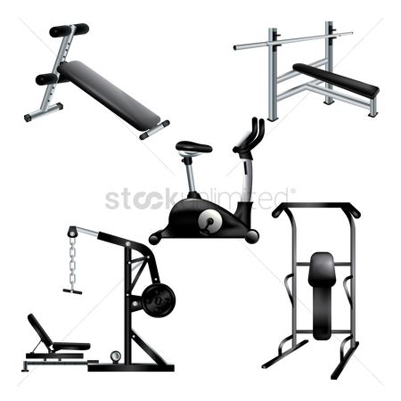 Machines : A collection of gym equipments