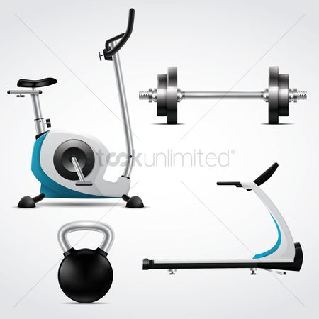 Treadmill : A collection of gym equipments