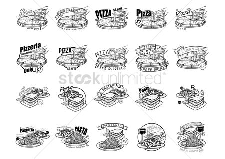 Pizzas : A collection of pizza and pasta menu titles