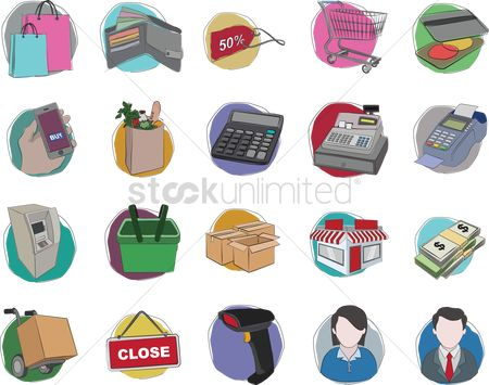 Hypermarket : A collection of shopping items