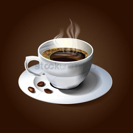 Coffee cups : A cup of hot coffee