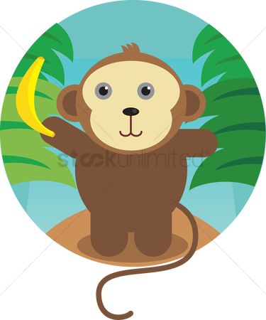 Bananas : A monkey with banana