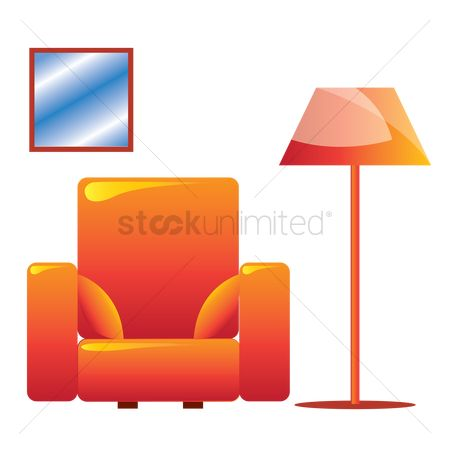 Interior : A one seater sofa