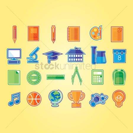 Palette : A set of education icons