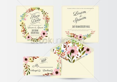 Weddings : A set of wedding invitations