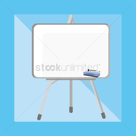 Whiteboard : A whiteboard on a stand