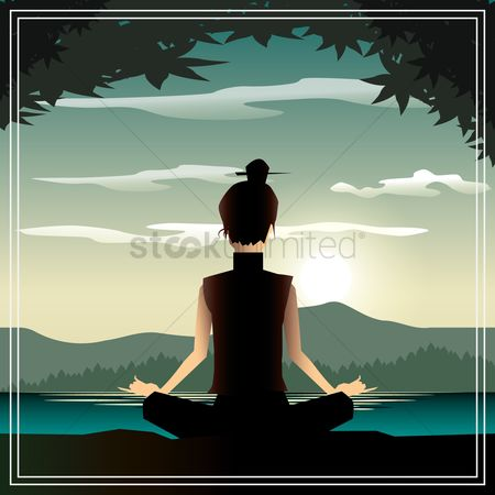Health : A woman meditating