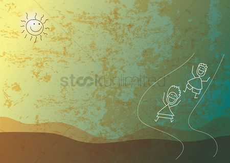 Play kids : Abstract background design