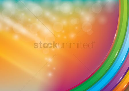Copyspaces : Abstract bokeh rainbow background