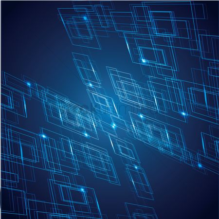 Visualize : Abstract computer blue background