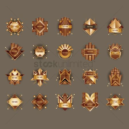 Badge : Abstract emblem collection