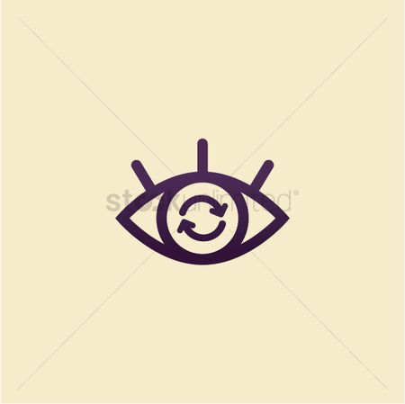 Refresh : Abstract eye icon