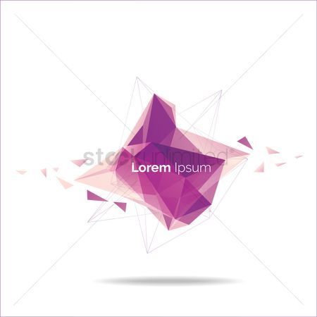 Copy space : Abstract faceted background