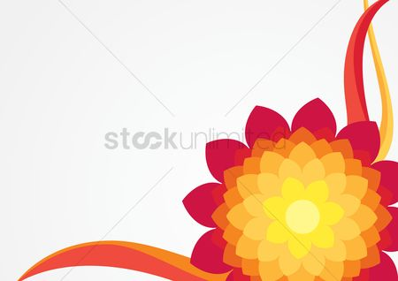 Multicolor : Abstract flower background