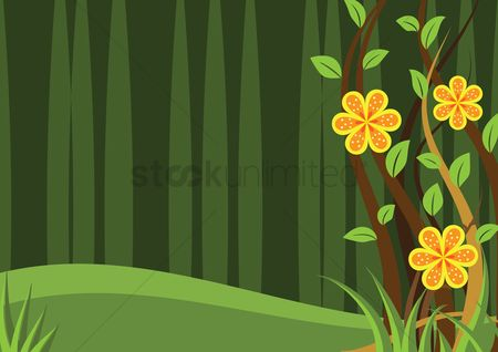 Stems : Abstract flower background