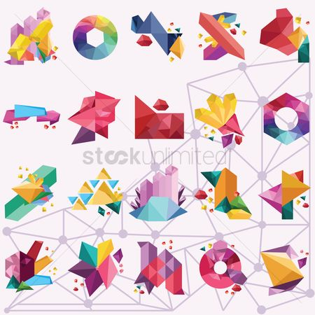Geometric background : Abstract geometric background set