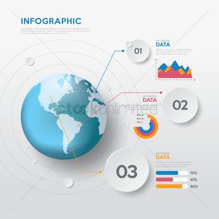 Digit : Abstract infographic background