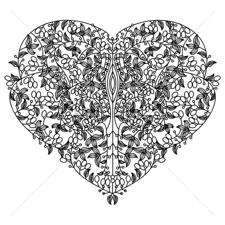 Heart shape : Abstract intricate heart design
