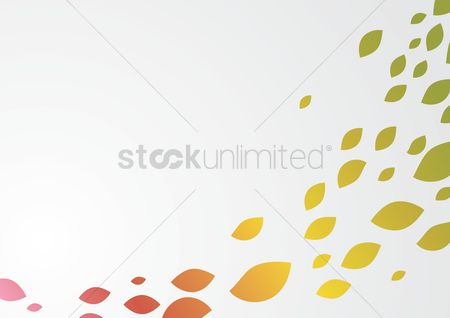 Flow : Abstract leaf background