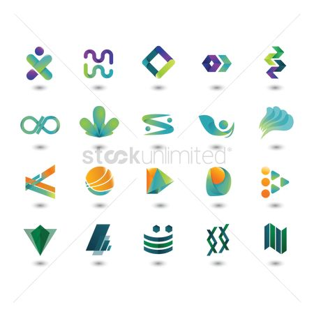 Artistic : Abstract logo element set