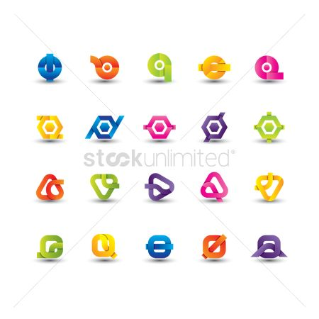 Colours : Abstract logo element set