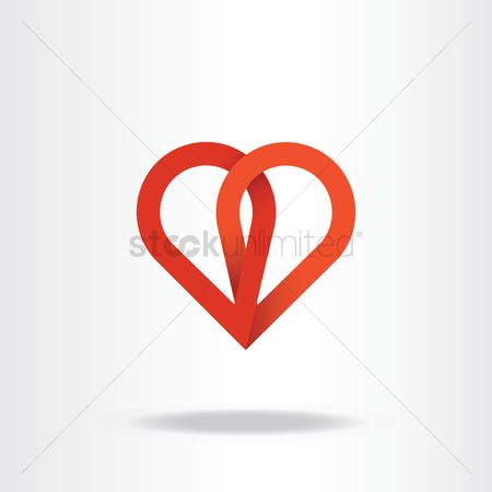 Heart shape : Abstract logo