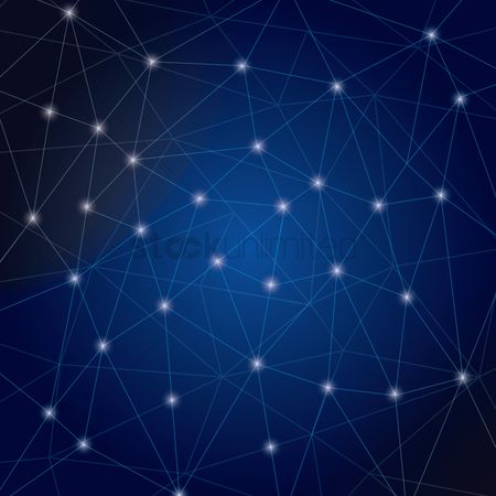 Copy space : Abstract network background