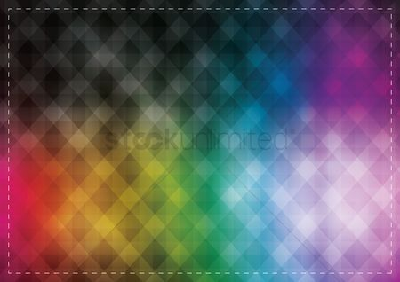 Borders : Abstract rainbow background