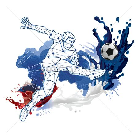 Sports : Abstract soccer player design