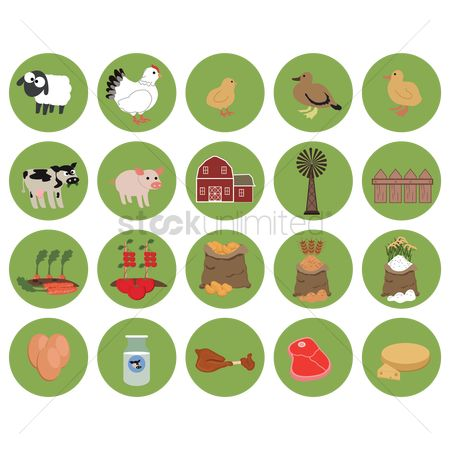 Wheats : Agricultural icons