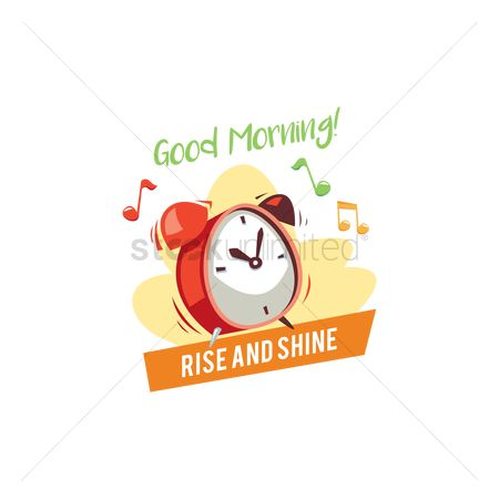 Time : Alarm clock with good morning text