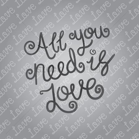 Compassion : All you need is love typography design