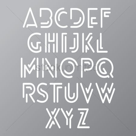 Typographics : Alphabet set