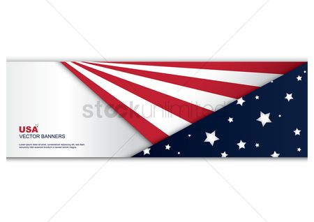 Countries : American flag banner