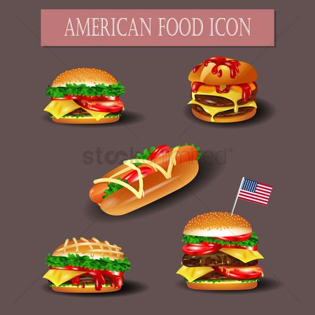 Flag : American food icons