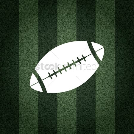 Rugby ball : American football ball on striped background