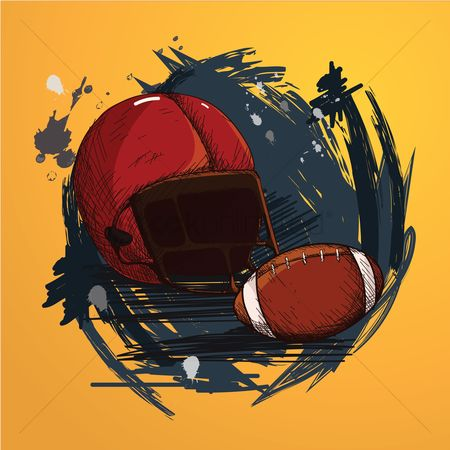 Athletes : American football equipments